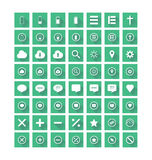 Flat Icons Set Stock Images
