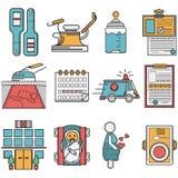 Flat icons set for gynecology Stock Image
