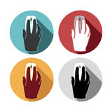 Flat icons set hand mouse Royalty Free Stock Photo