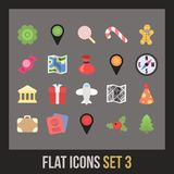Flat icons set 3 Royalty Free Stock Photo