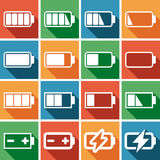 Flat icons set Royalty Free Stock Image