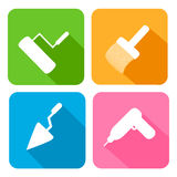 Flat icons Stock Photography