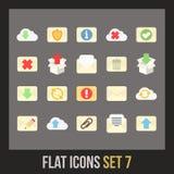 Flat icons set 7 Stock Photos