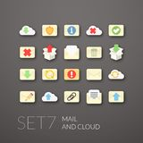 Flat icons set 7 Stock Image