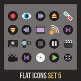 Flat icons set 5 Royalty Free Stock Photo