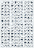 Flat icons Royalty Free Stock Images
