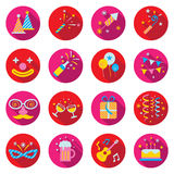 Flat Icons Set : Party Objects Royalty Free Stock Image