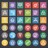 Flat icons set repair construction Royalty Free Stock Images