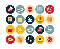 Flat icons set 20. Sales and retail collection royalty free illustration