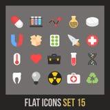 Flat icons set 15 Royalty Free Stock Photo