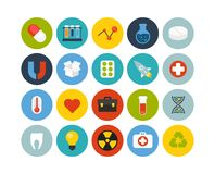 Flat icons set 15. Science and medicine collection Stock Photo