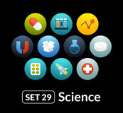 Flat icons set 29 - science and medicine Stock Photography