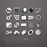 Flat icons set 22 Royalty Free Stock Photography