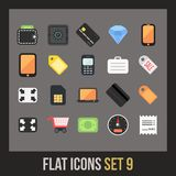Flat icons set 9 Royalty Free Stock Photo