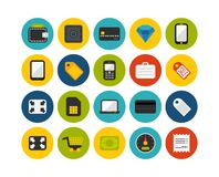 Flat icons set 9 Stock Photos