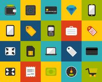 Flat icons set 9 Royalty Free Stock Photos