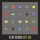 Flat icons set 28 Royalty Free Stock Photos