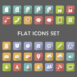 Flat Icons Set. A set of some flat icons that can easily be adapted for any project Royalty Free Stock Photo