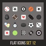 Flat icons set 12 Stock Images