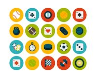 Flat icons set 12 Royalty Free Stock Image