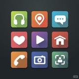 Flat Icons Set stock illustration