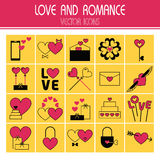 Flat icons set of Valentine's Day Stock Photo