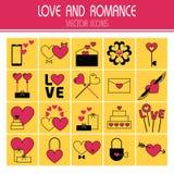 Flat icons set of Valentine's Day Stock Photo