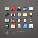 Flat icons set 8 Stock Image