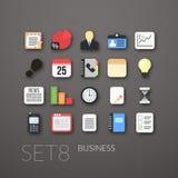 Flat icons set 8 Stock Image