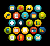 Flat icons set 8 Royalty Free Stock Images