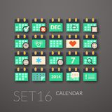 Flat icons set 16 Stock Images