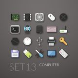 Flat icons set 13 Stock Photography