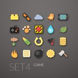 Flat icons set 4 Royalty Free Stock Photography