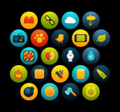 Flat icons set 4 Stock Images