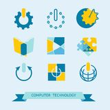 Flat icons set. Stock Images
