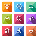 Flat icons set vector illustration Royalty Free Stock Photos