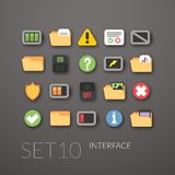 Flat icons set 10 Stock Photography