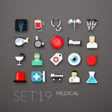 Flat icons set 19 Stock Images