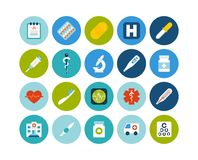 Flat icons set 18 Royalty Free Stock Photos