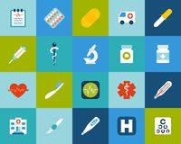 Flat icons set 18 Royalty Free Stock Photography