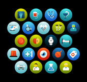 Flat icons set 19 Royalty Free Stock Image