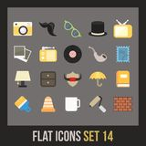 Flat icons set 14 Stock Photography