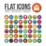 Flat icons Stock Images