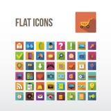 Flat icons. Stock Image