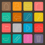 Flat icons set. For Web and Mobile Applications Royalty Free Stock Photos