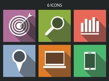 Flat icons set for Web and Mobile Applications Stock Image