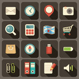 Flat icons set for Web Stock Photography