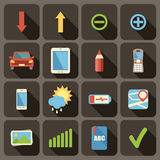 Flat icons set for Web Stock Photos