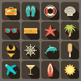 Flat icons set for Web Stock Image