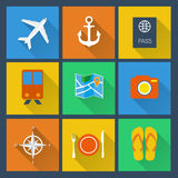 Flat icons set. Royalty Free Stock Photos
